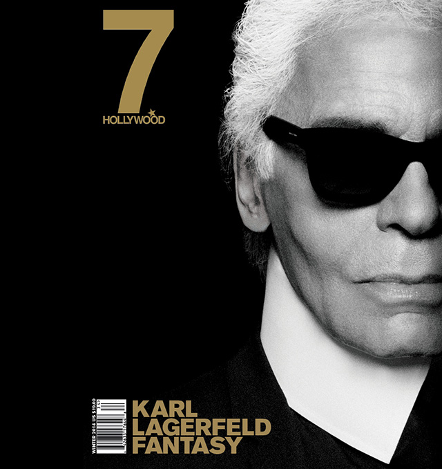 Karl Lagerfeld for 7Hollywood Magazine Winter 2014