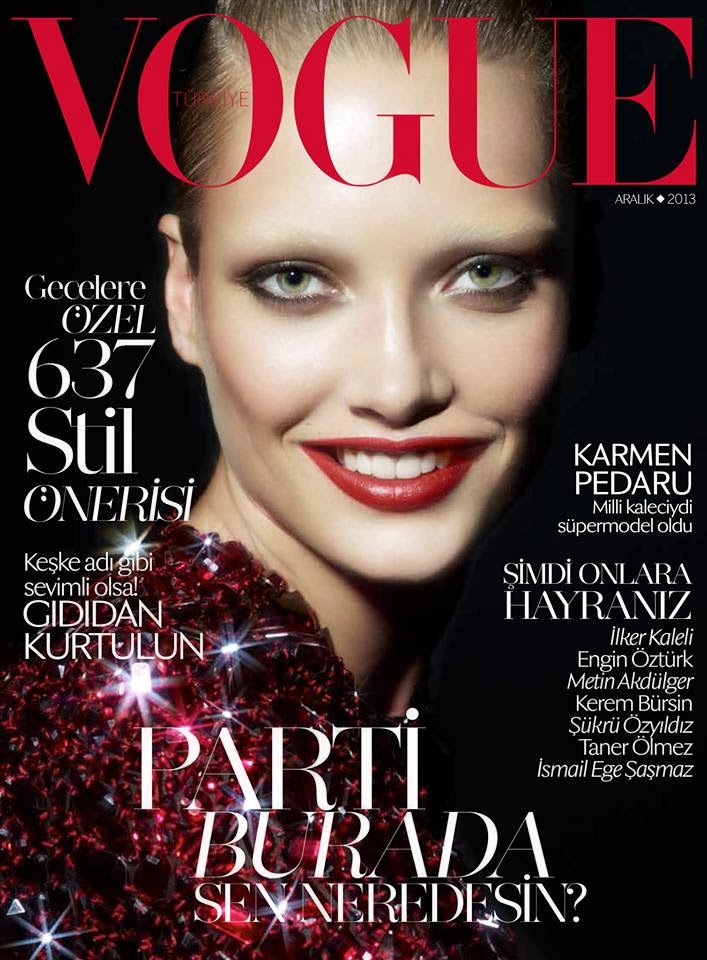 Karmen Pedaru by Cuneyt Akeroglu for Vogue Turkey December 2013