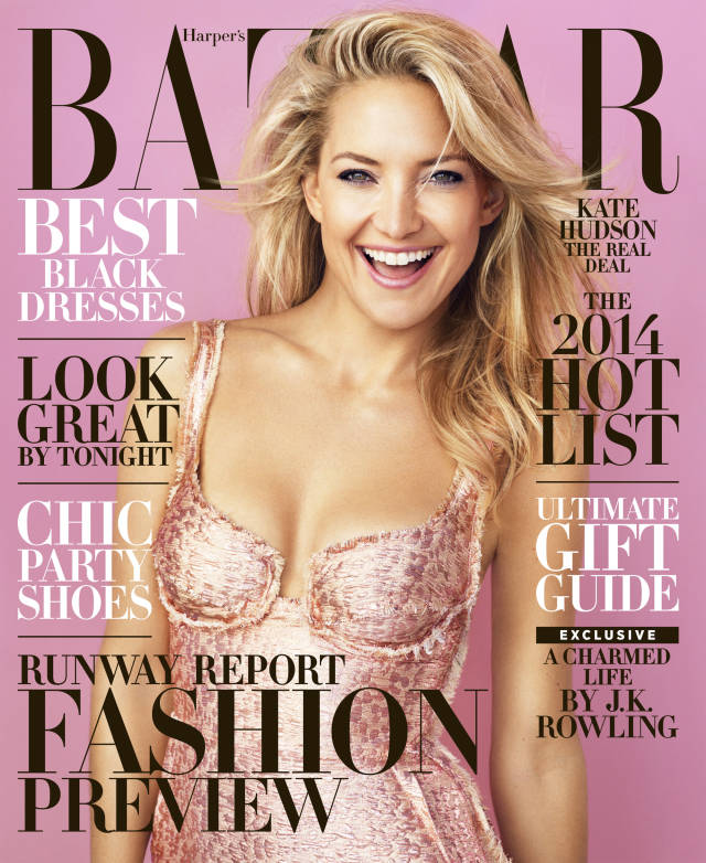 Kate Hudson by Alexi Lubomirski for Harper's Bazaar US December 2013