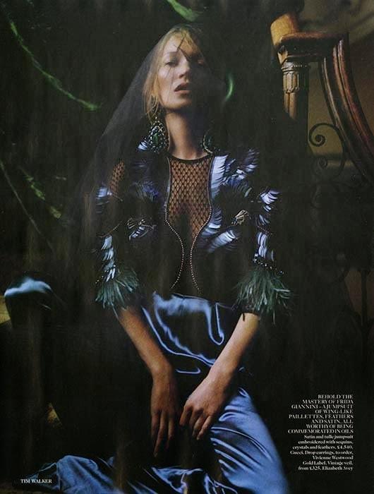 Kate Moss by Tim Walker for Vogue UK December 2013