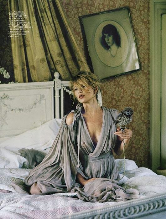 Kate Moss by Tim Walker for Vogue UK December 2013