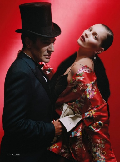 Kate Moss & John Galliano by Tim Walker for Vogue UK December 2013