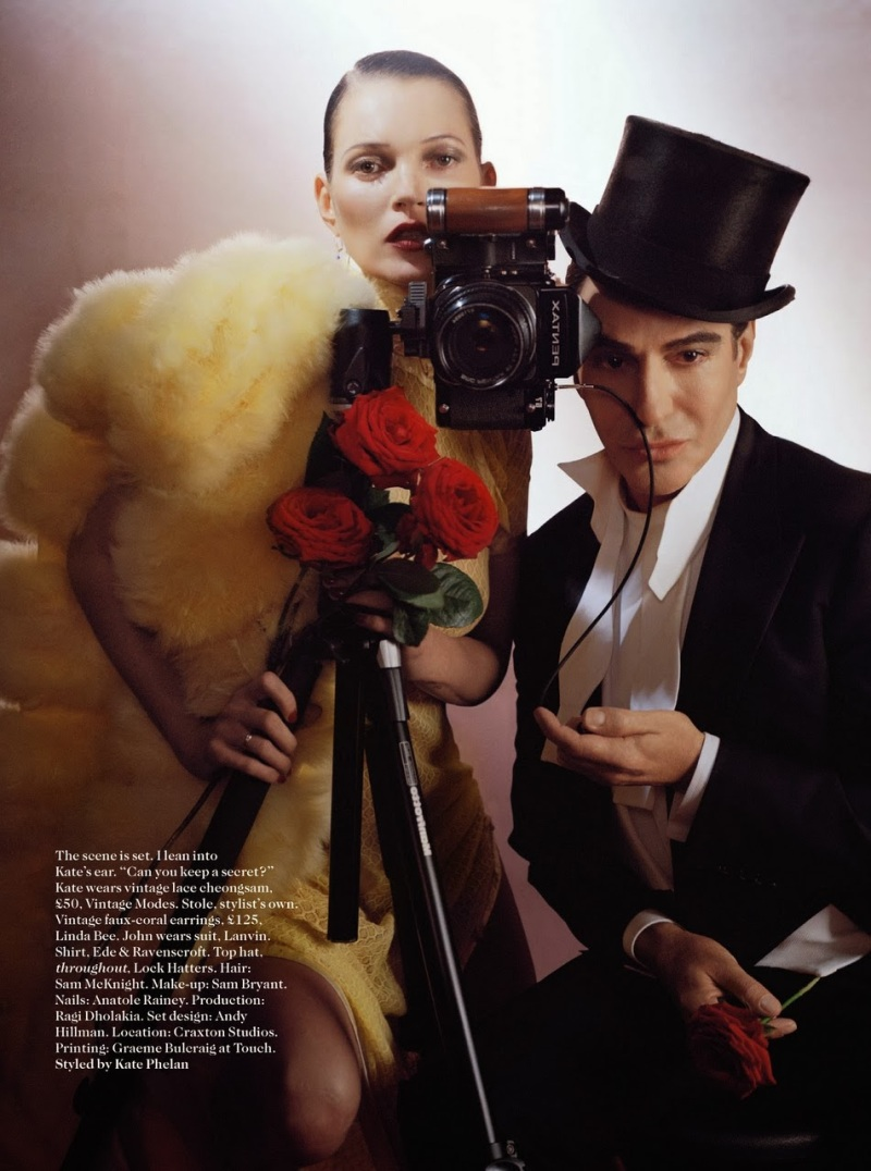 Kate Moss & John Galliano by Tim Walker for Vogue UK December 2013