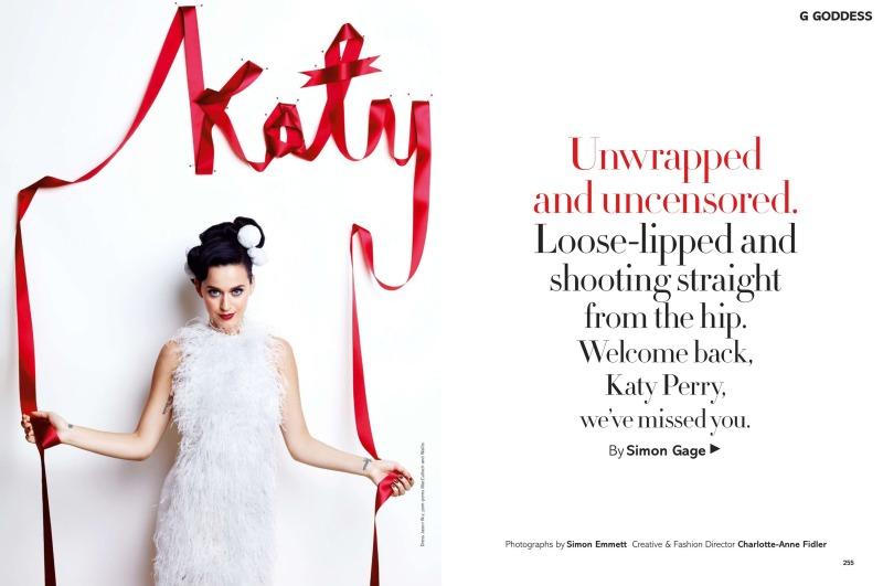 Katy Perry by Simon Emmett for Glamour UK December 2013