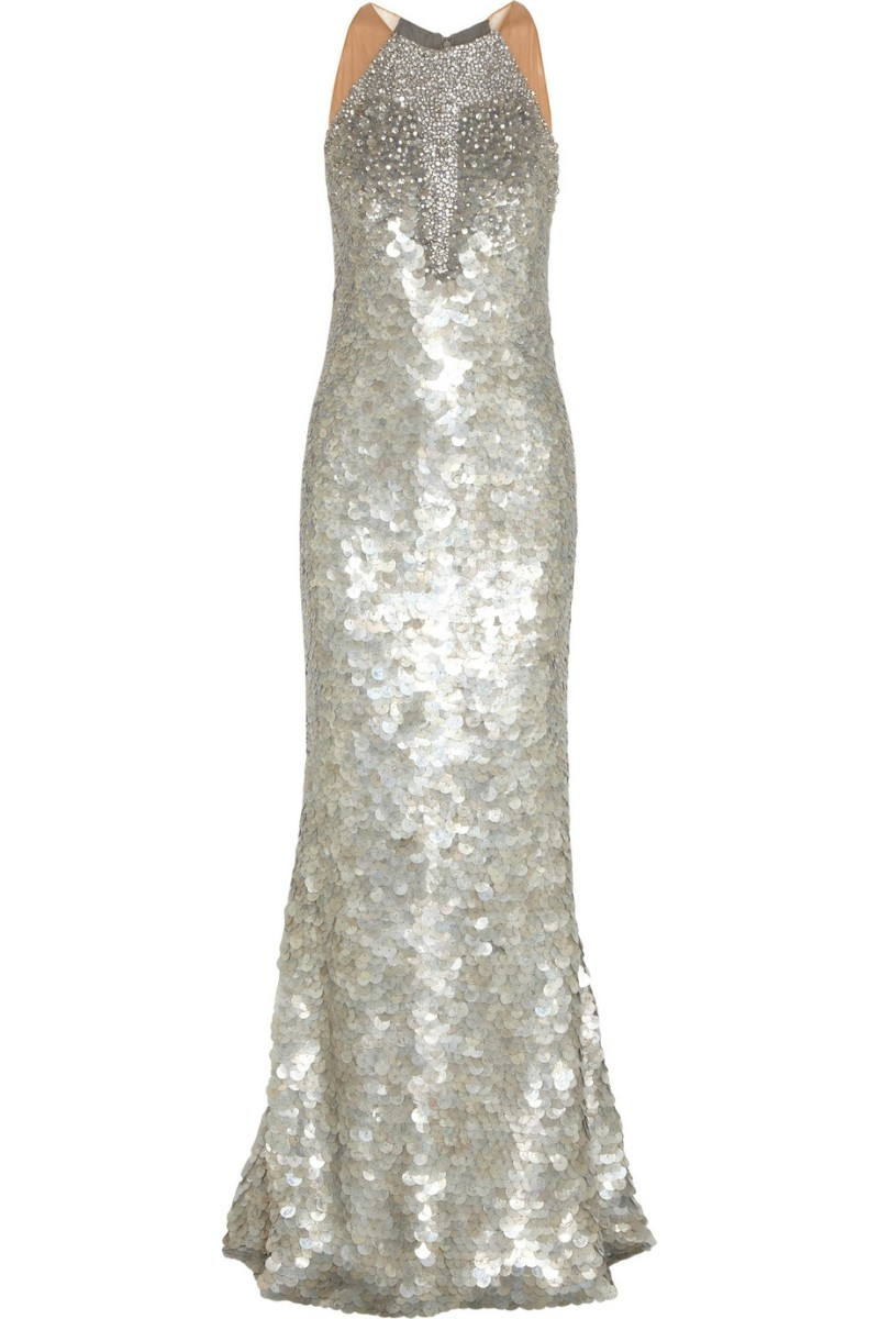 KAUFMANFRANCO Crystal and paillette-embellished silk gown €9,288.47