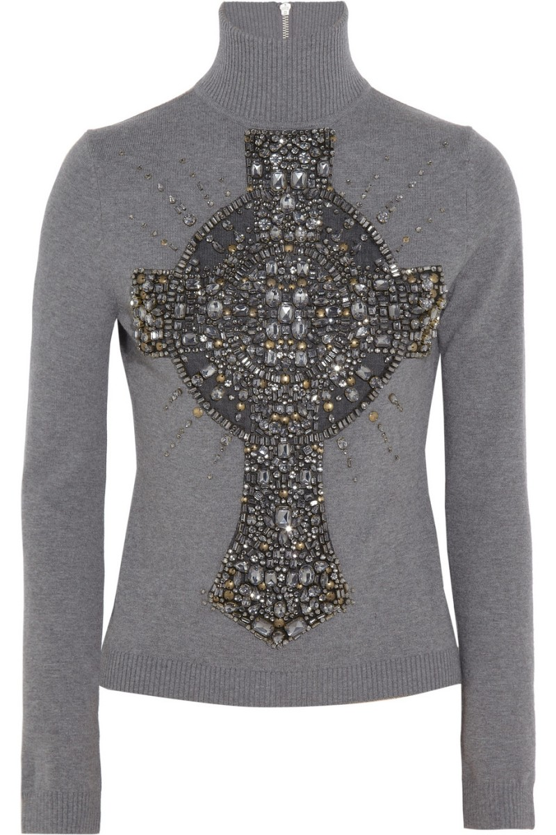 KAUFMANFRANCO Embellished merino wool sweater €2,018.10