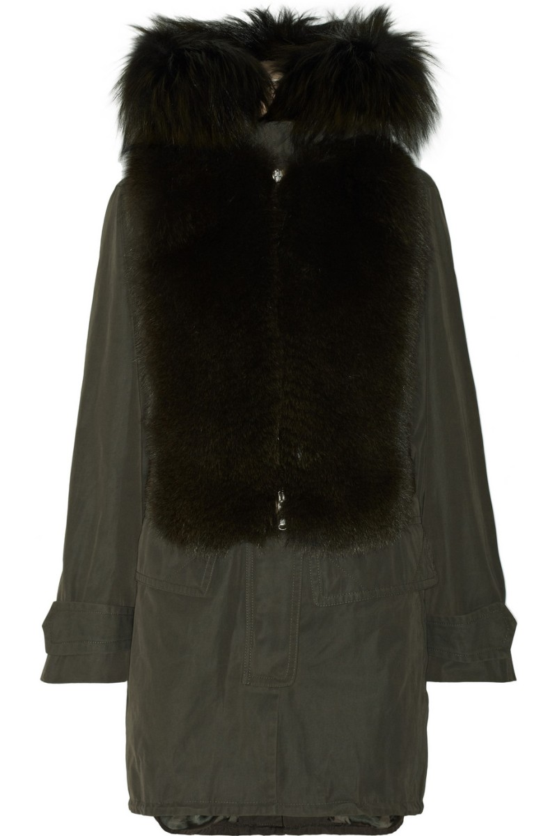 KAUFMANFRANCO Hooded fox-trimmed twill parka €5,663.70