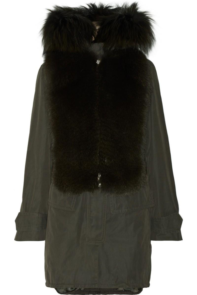 KAUFMANFRANCO Hooded fox-trimmed twill parka €5,663.70