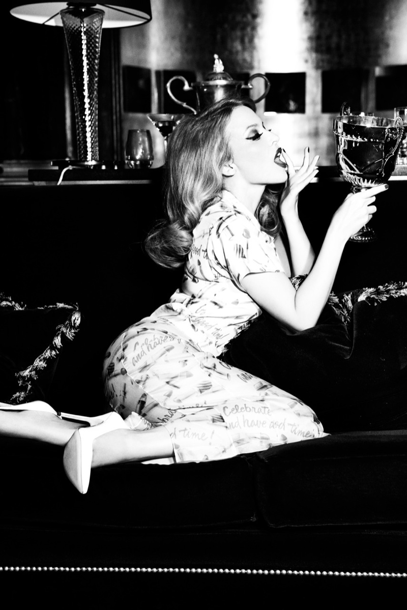 Kylie Minogue by Ellen von Unwerth for GQ Germany December 2013