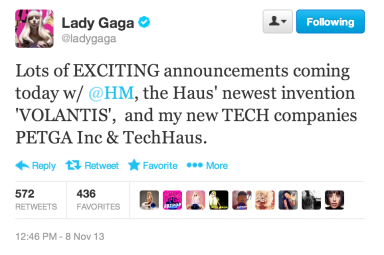 Lady Gaga announced on Twitter the collaboration with H & M