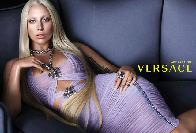 Lady Gaga by Mert Alas and Marcus Piggott for Versace Spring/Summer 2014 Ad Campaign