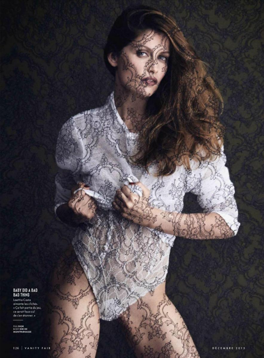 Laetitia Casta by Luigi & Daniele + Iango for Vanity Fair France December 2013