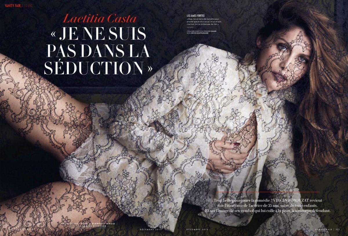 Laetitia Casta by Luigi & Daniele + Iango for Vanity Fair France December 2013