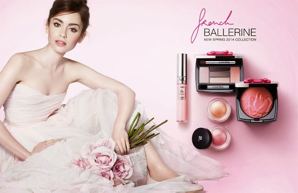 Lily Collins for Lancome's French Ballerine Spring 2014 Collection