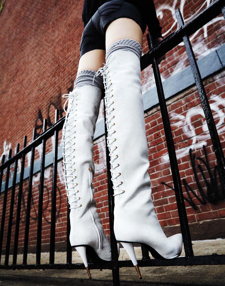 """""""Leg Up"""" by Bjarne Jonasson for Interview Magazine November 2013"""