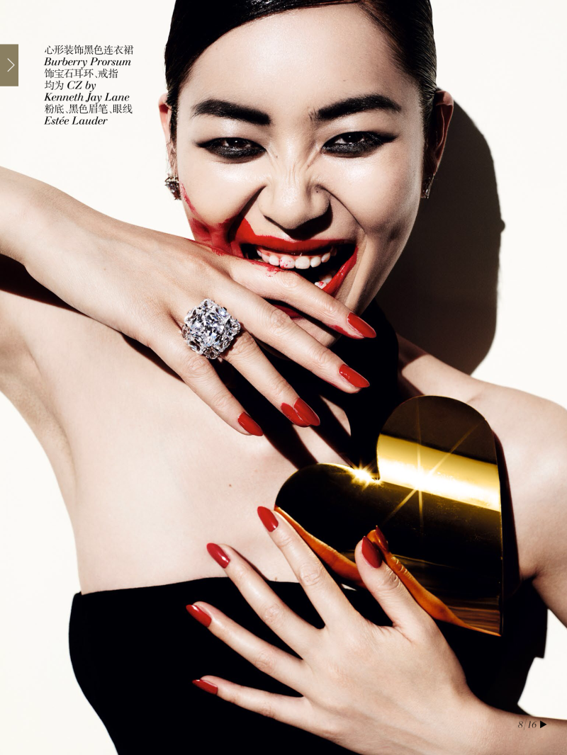 Liu Wen by Mario Testino for Vogue China December 2013
