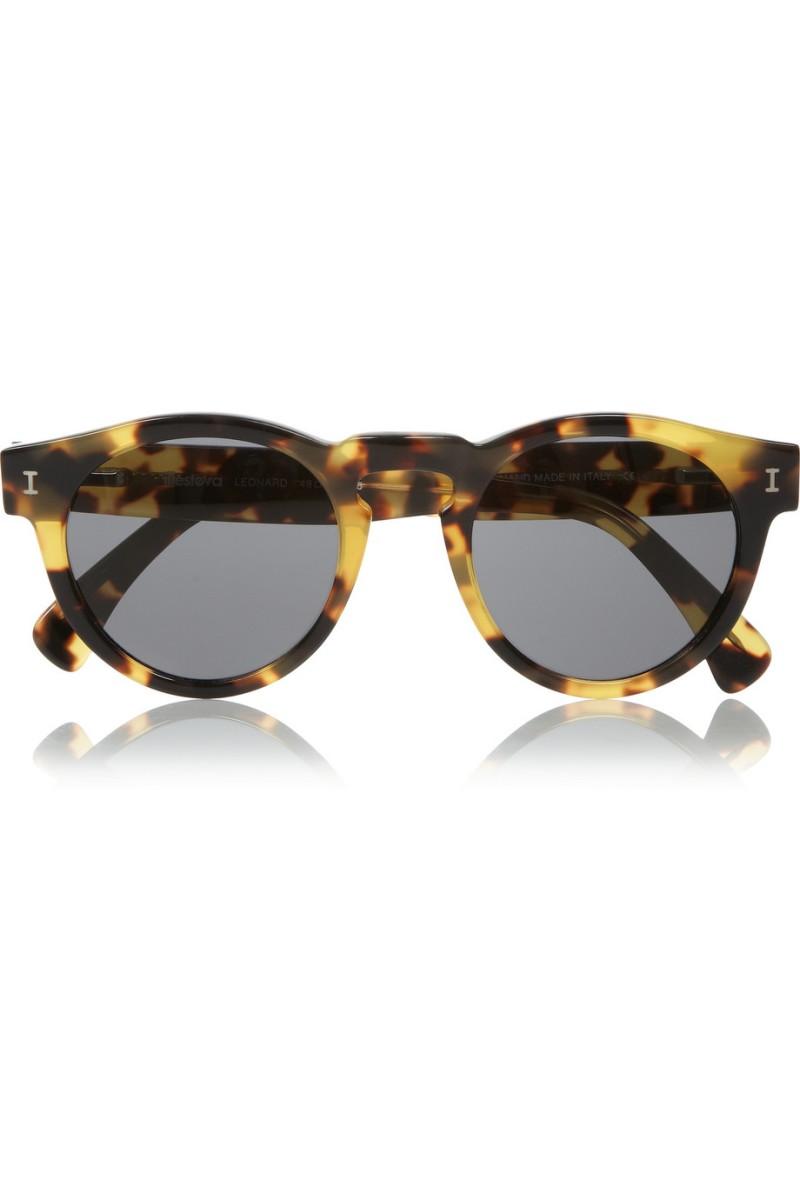 tortoise shell sunglasses yf02  ILLESTEVA Leonard round-frame acetate sunglasses 165