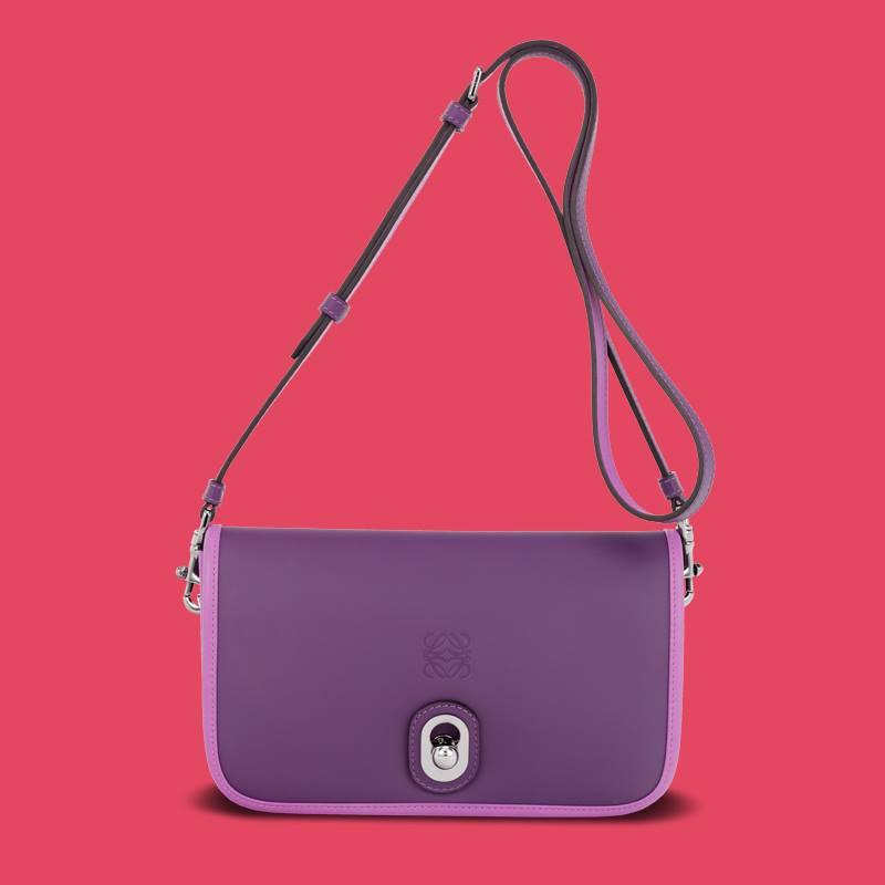 Loewe's Purple 'Inés' Bag.