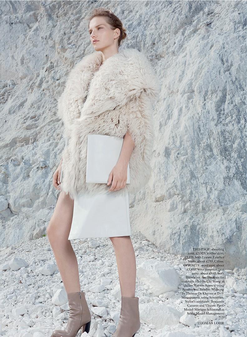 Marique Schimmel by Thomas Lohr for Harper's Bazaar UK December 2013