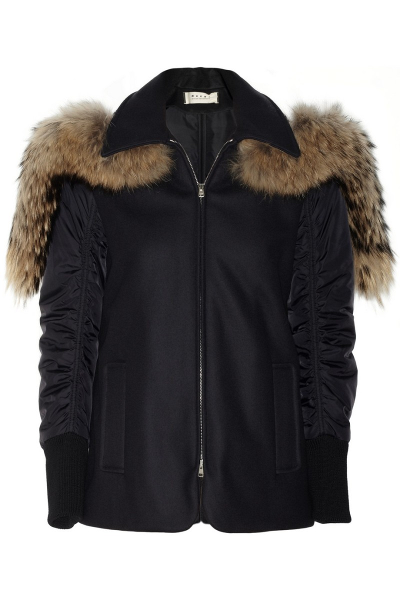 MARNI Raccoon and shearling-trimmed felt parka €1,450