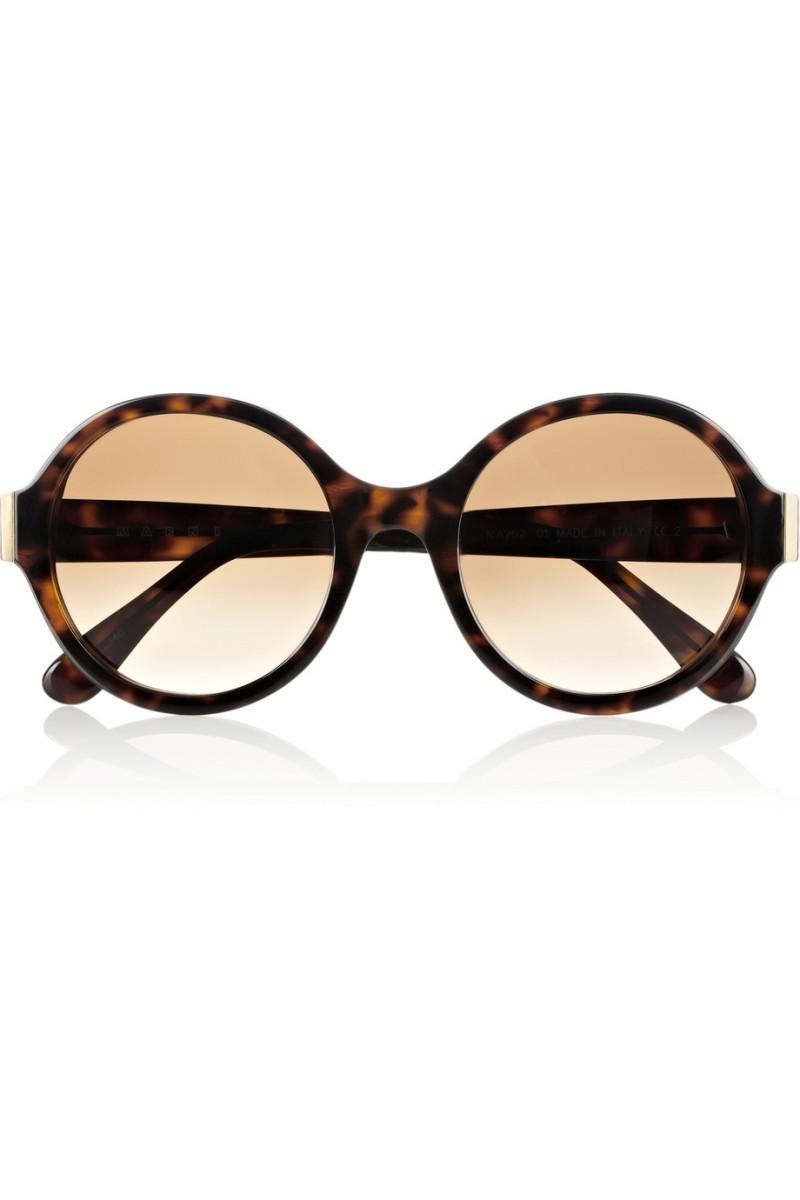 MARNI Round-frame tortoiseshell acetate sunglasses €250