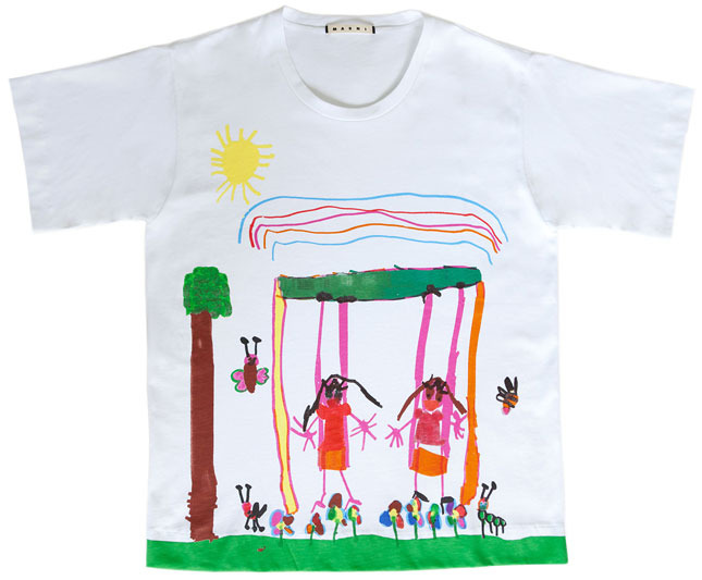 Marni's t-shirts for the Children's imaginary world 2013 charity project