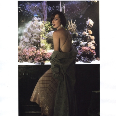 Milla Jovovich by Katie Bleacher & Dean Everard for Harper's Bazaar Russia December 2013