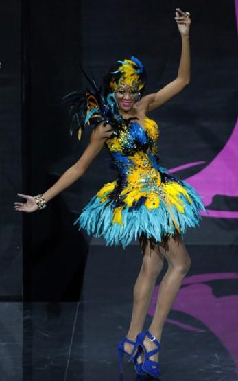 Miss Bahamas looking totally tropical