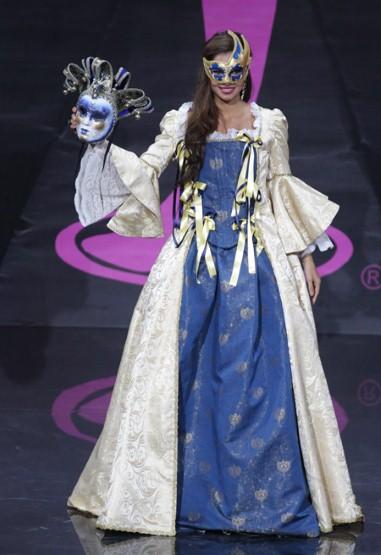 Miss Italy celebrating The Carnival in Venice