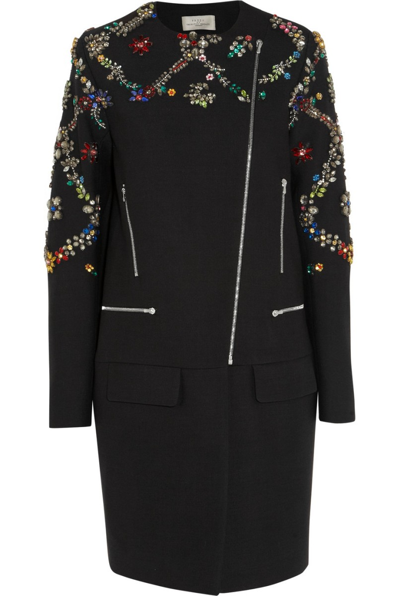 PREEN BY THORNTON BREGAZZI Avalon embellished wool-twill coat €3,335