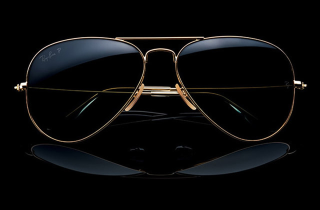 ray ban limited edition aviator metal sunglasses  ray ban introduces its aviator 18k solid gold edition