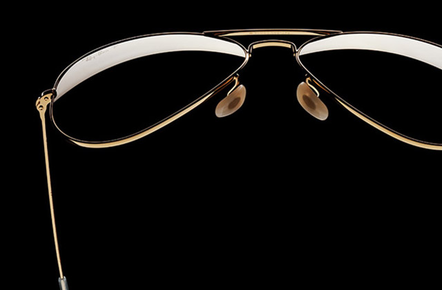 RAY-BAN  AVIATOR 18k SOLID GOLD SUNGLASSES