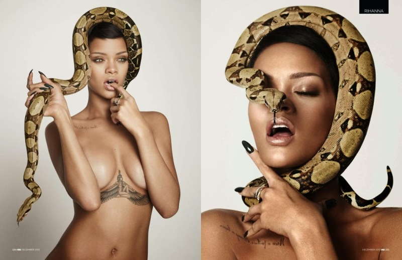 Rihanna by Mariano Vivanco for GQ UK December 2013