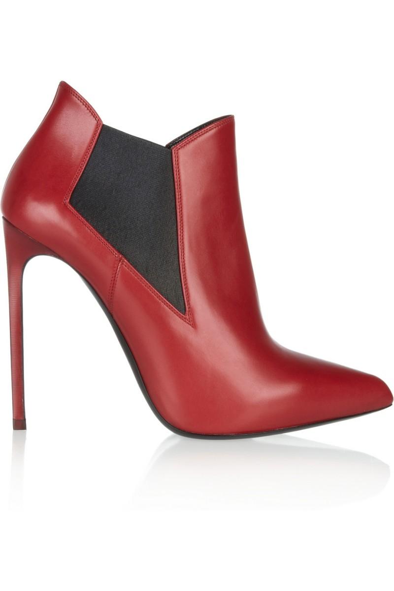 SAINT LAURENT Leather ankle boots €695