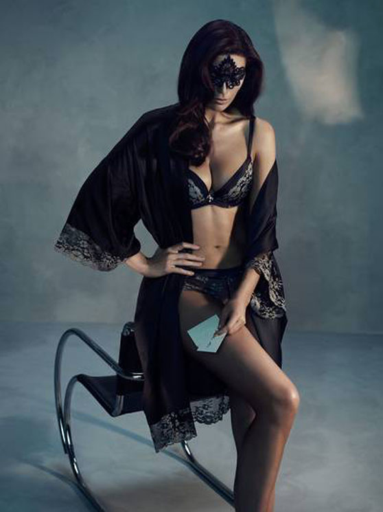 "Signe Nordstrom for ""50 shades of gray"" lingerie collection by KappAhl"