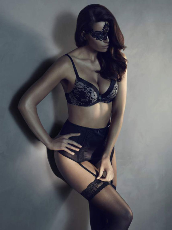 """Signe Nordstrom for """"50 shades of gray"""" lingerie collection by KappAhl"""