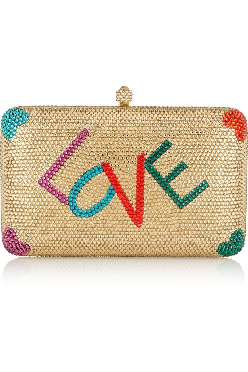 SYLVIA TOLEDANO Love Swarovski crystal-embellished box clutch €1,250