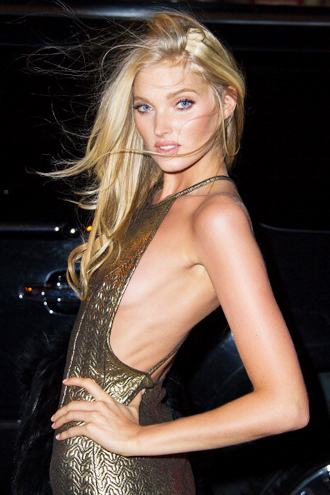 Elsa Hosk arrives at the 2013 Victoria's Secret Fashion Show after party at Tao Downtown