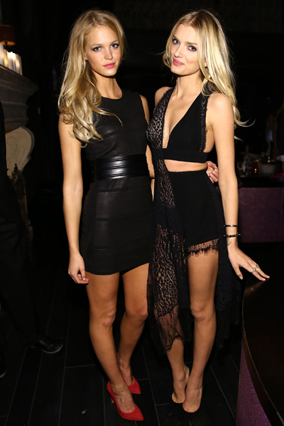 Erin Heatherton and Lily Donaldson attend the 2013 Victoria's Secret Fashion after party at TAO Downtown