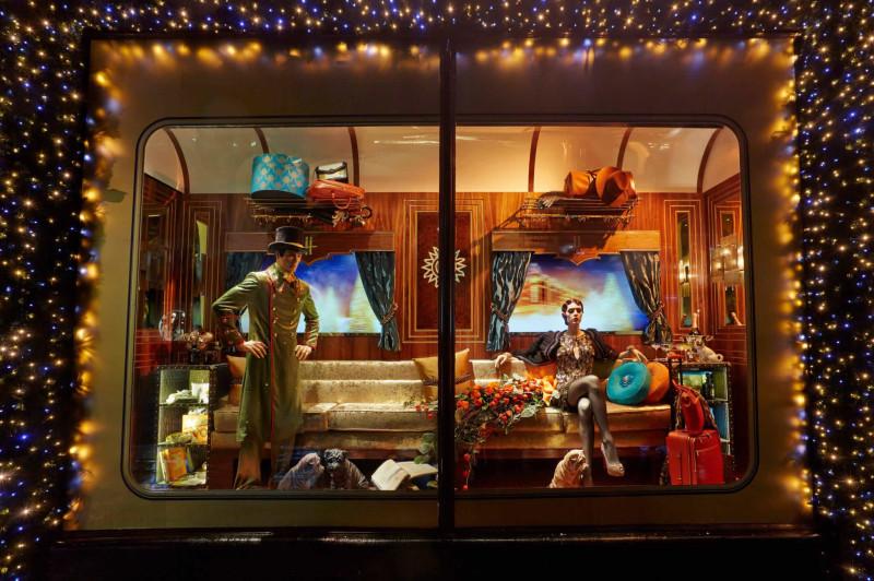 The Harrods Express Christmas 2013 , at London's Harrods