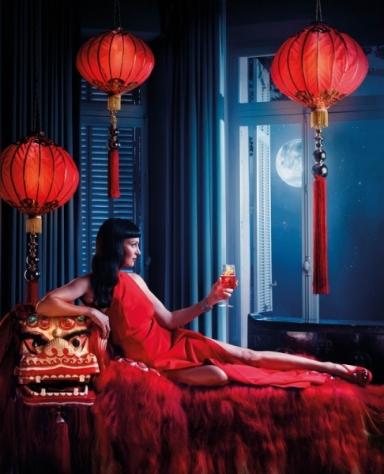 Uma Thurman by Koto Bolofo for Campari 2014 calendar January