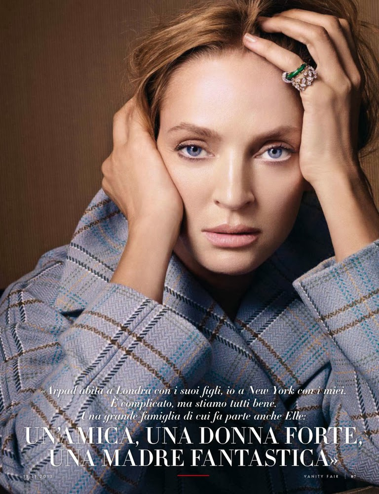 Uma Thurman for Vanity Fair Italy November 2013