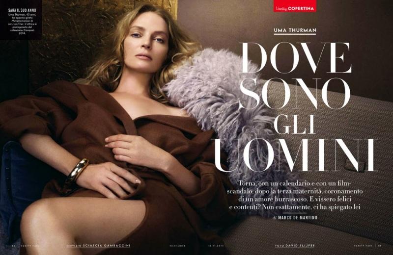 Uma Thurman for Vanity Fair Italy November 2013