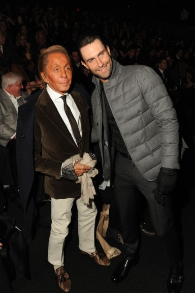 Valentino Garavani and Adam Levine Photo by Steve Eichner