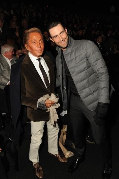 Valentino Garavani and Adam Levine Photo by Steve Eichner