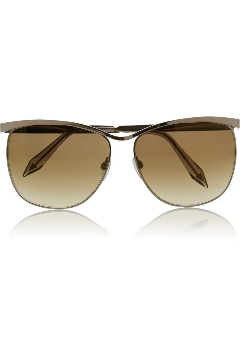 VICTORIA BECKHAM Cutaway Cat mirrored square-frame sunglasses €435