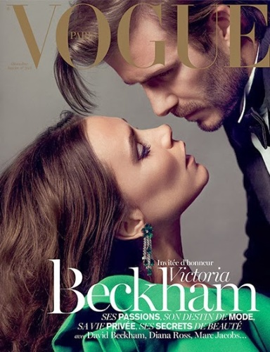 Victoria Beckham & David Beckham by Inez & Vinoodh for Vogue Paris December 2013/January 2014