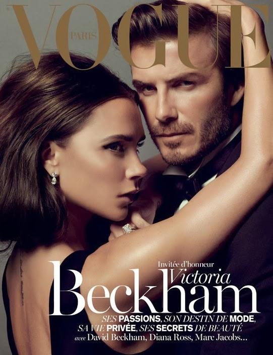 Victoria Beckham & David Beckham by Inez & Vinoodh for Vogue Paris December 2013/January 2014