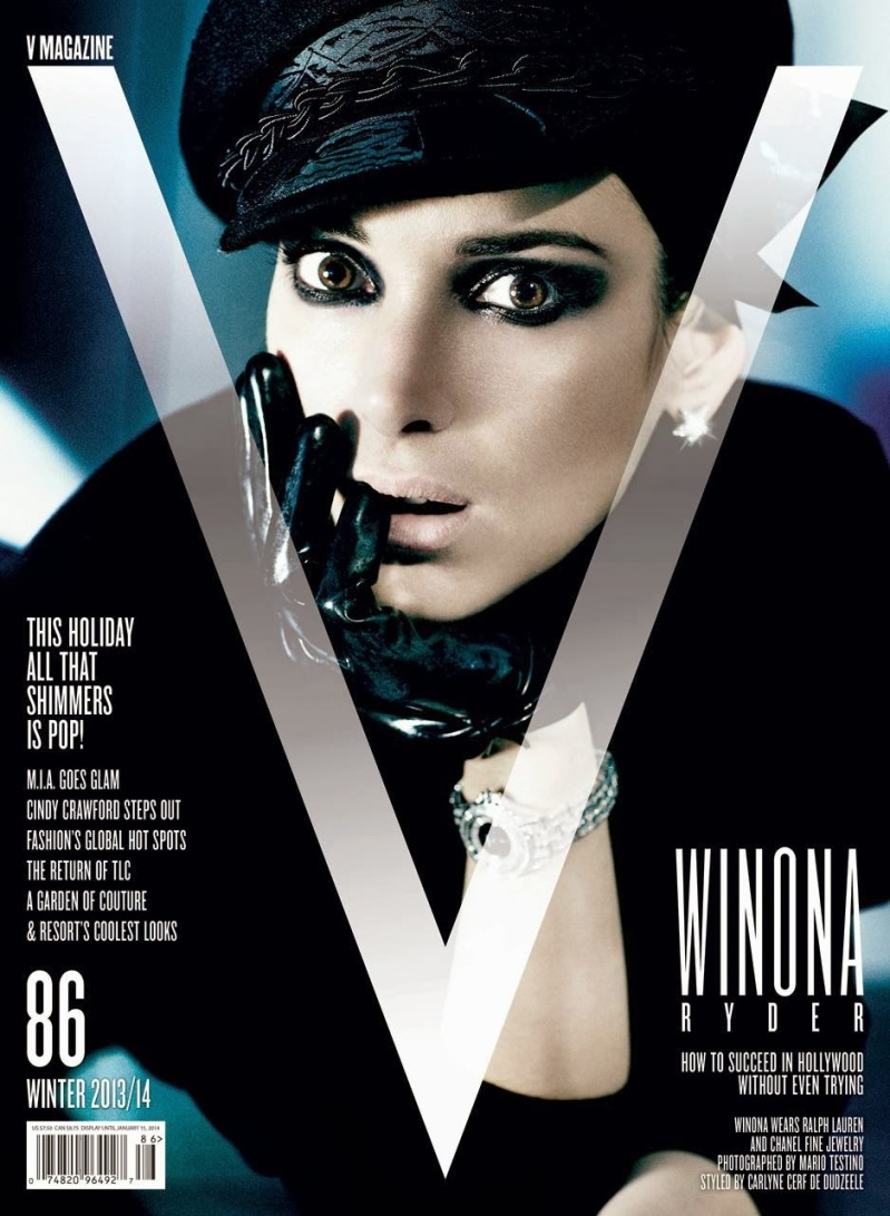 Winona Ryder by Mario Testino for V #86 Fall/Winter 2013.14