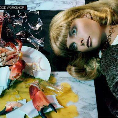 Agnete Hegelund by Miles Aldridge for Vogue Italia December 2013